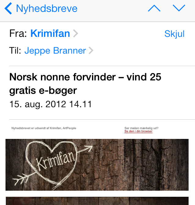 Norsk nonne forsvinder – vind 25 gratis e-bøger (15/8-2012)
