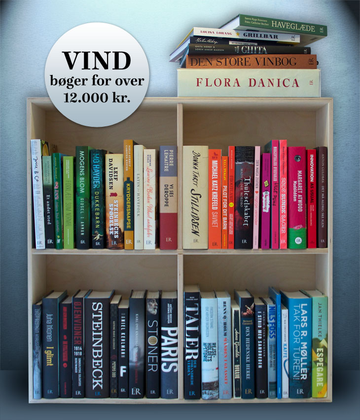 Vind bøger for over 12000 kroner