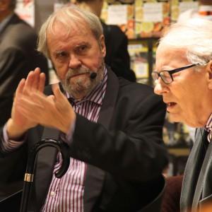 Johannes Møllehave lukkede messen sammen med sin gamle ven Niels Birger Wamberg i en samtale, hvor der blev klappet, råbt, grinet og banket hårdt i gulvet med stokken.