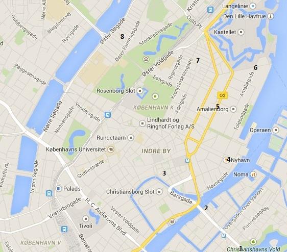 kort over christiansborg fliser København