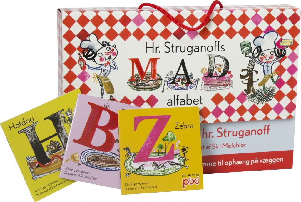 Hr struganoffs madalfabet, læsestart, lære at læse, lær at læse, Kim Fupz, pixi-bøger, børnebøger