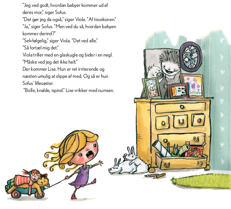 """Første side i Trine Bundsgaards bog """"Blev du til ved et knald?"""""""