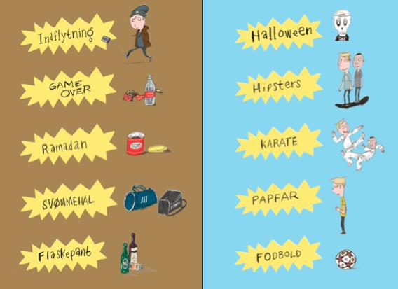 De 10 sjove historier om Mogens og Mahdi i Fupz og Bregnhøis nye tegneserie.