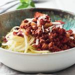 Kalorielet bolognese med squashspaghetti