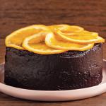 Chokoladekage med råsyltede appelsiner
