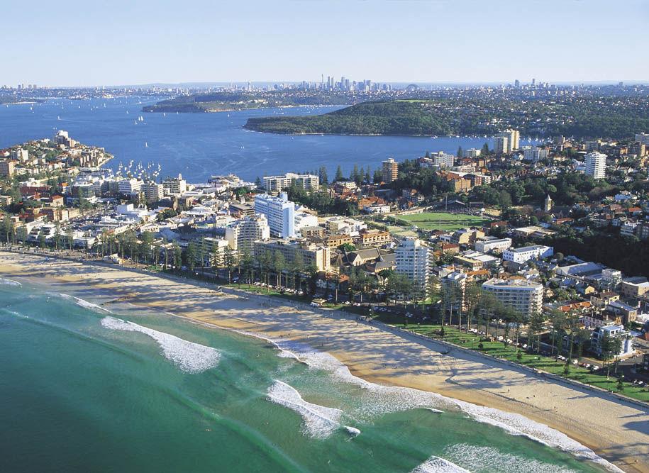 Kig fra Manly til Sydney og havnen.