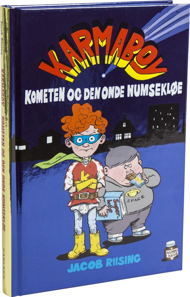 karmaboy, jacob riising, bogserier, bogserie, geniale bogserier, højtlæsning, børnebøger
