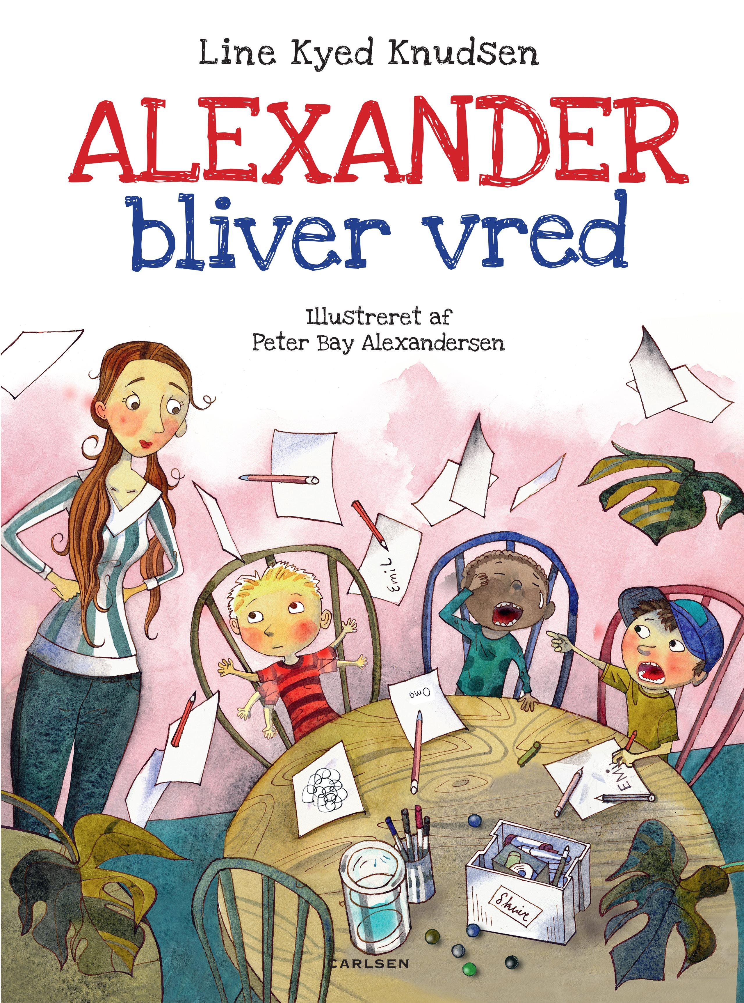 Alexander bliver vred, line dyed knudsen, dialogisk læsning, børnebøger, højtlæsning