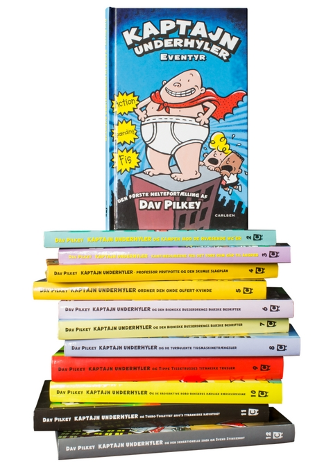 Kaptajn Underhylder, Dav Pilkey, filmen om Kaptajn Underhyler, børnebøger til sommerferien