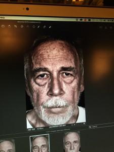 Det fotografi af Villumsen, som grafikeren endte med at bruge på forsiden