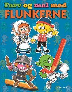 Flunkerne, Farv og mal med Flunkerne, malebog, malebøger, ferie, børnebøger, børnebog