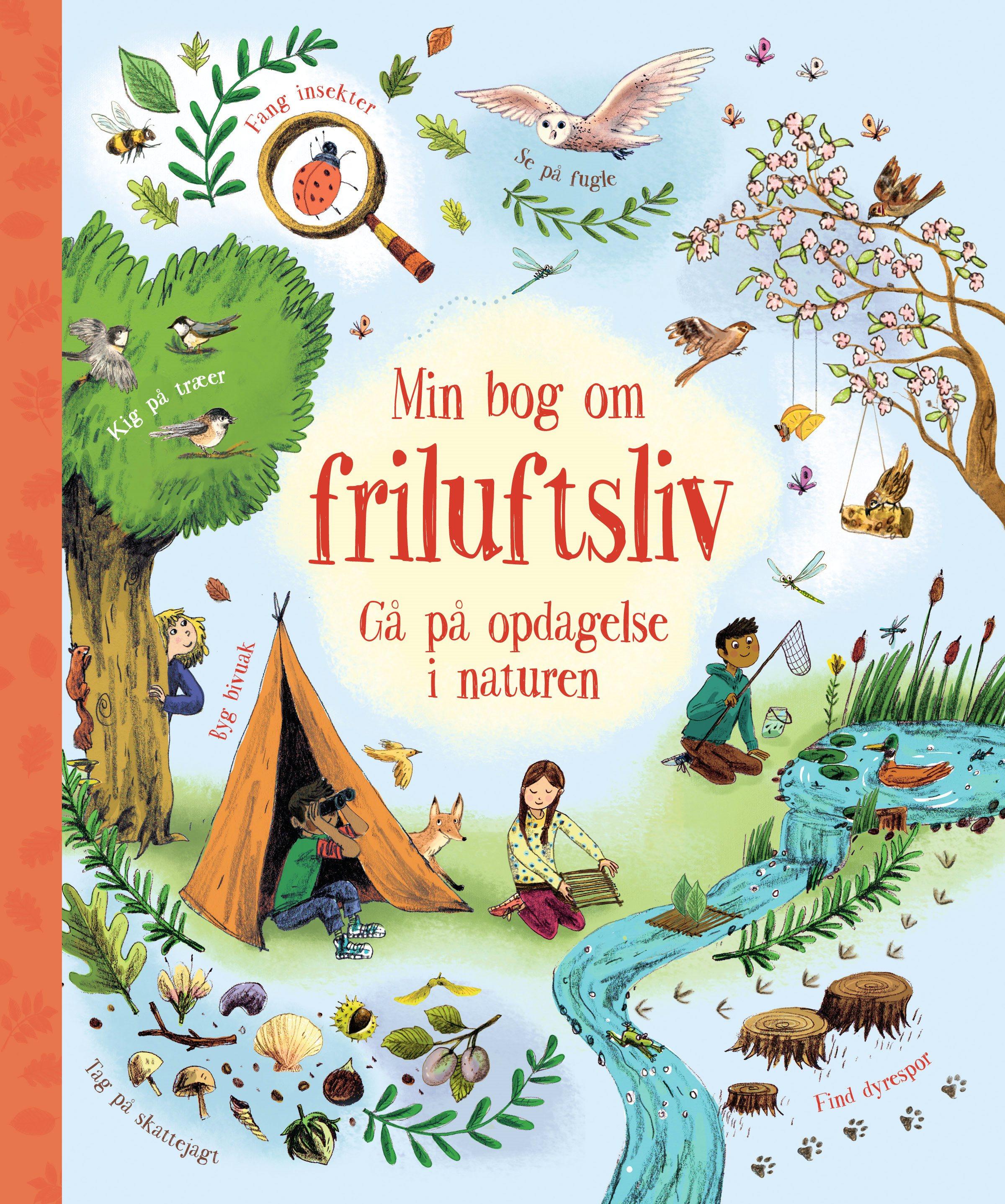 Min bog om friluftsliv, Carlsen, børnebøger, aktivitetsbøger