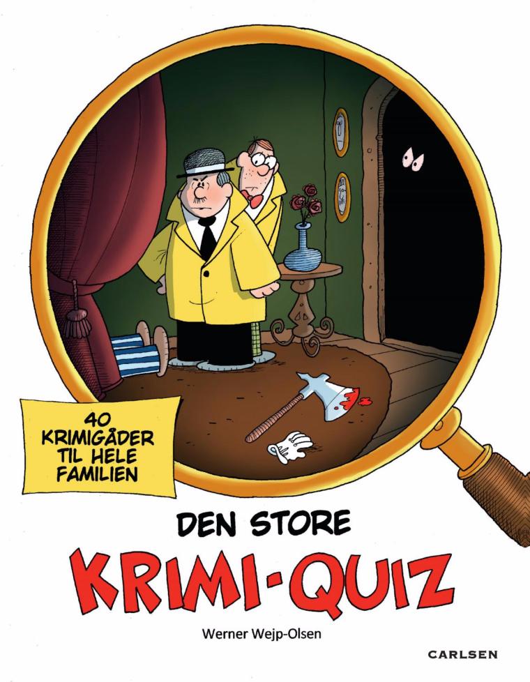 Den store krimi-quiz, Werner Wejp-olsen, aktivitetsbøger, opgavebog, ferie, sommerferie