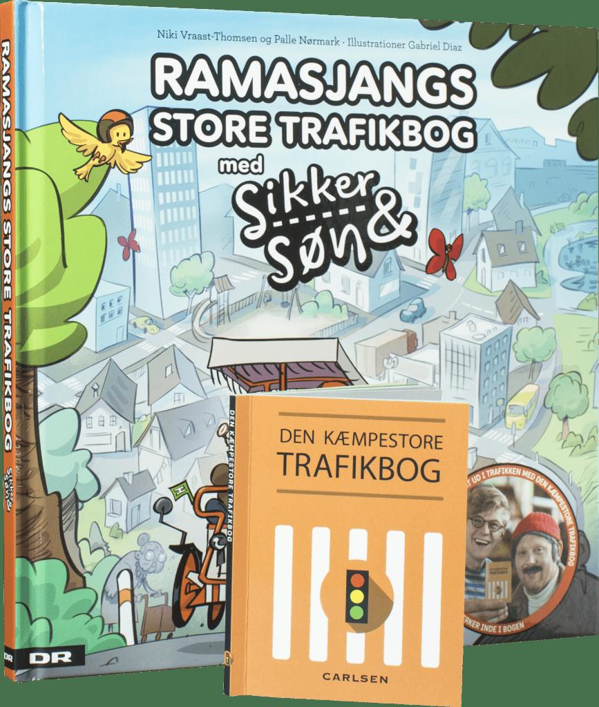 Ramasjangs store trafikbog med Sikker & Søn, trafikbog, Sikker & Søn, børnebøger,