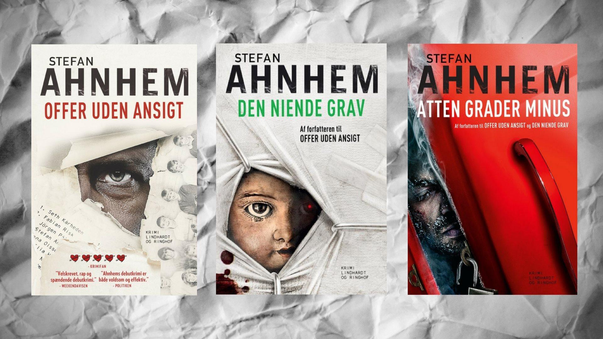 Stefan Ahnhem, krimi, krimiserie, svensk krimi, offer uden ansigt, den niende grav, atten grader minus, Fabian Risk
