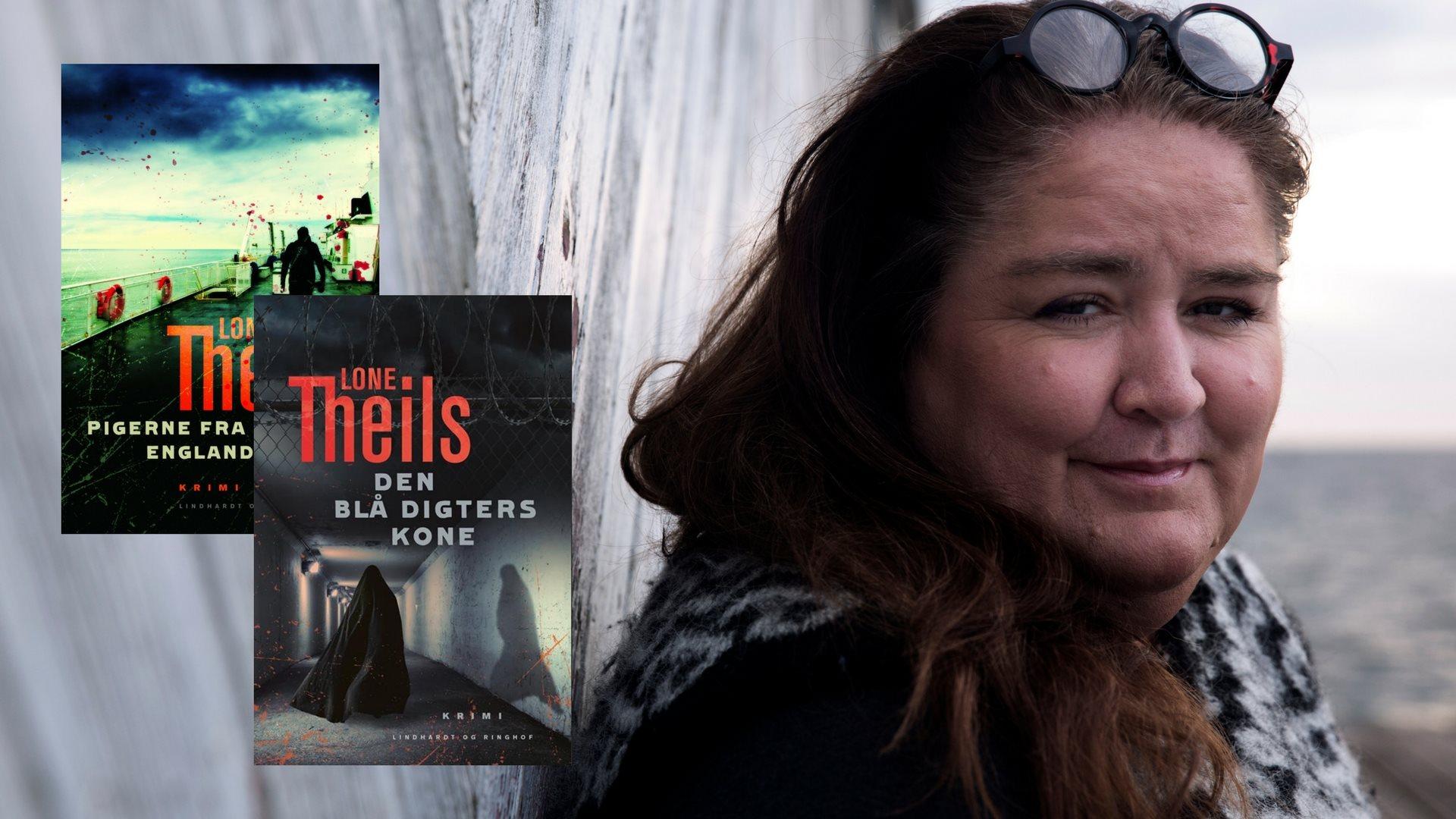 Lone Theils, Nora Sand serien, krimi, krimiserie, pigerne fra englandsbåden, den blå digters kone
