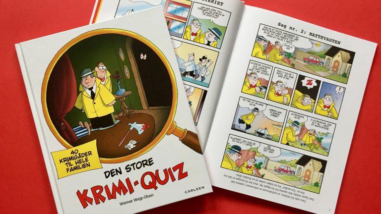Inspector Danger, Werner Wejp-Olsen, børn, børnebog, aktiviteter, aktivitet, læsning, Den store Krimi-Quiz, gåder, mysterier,