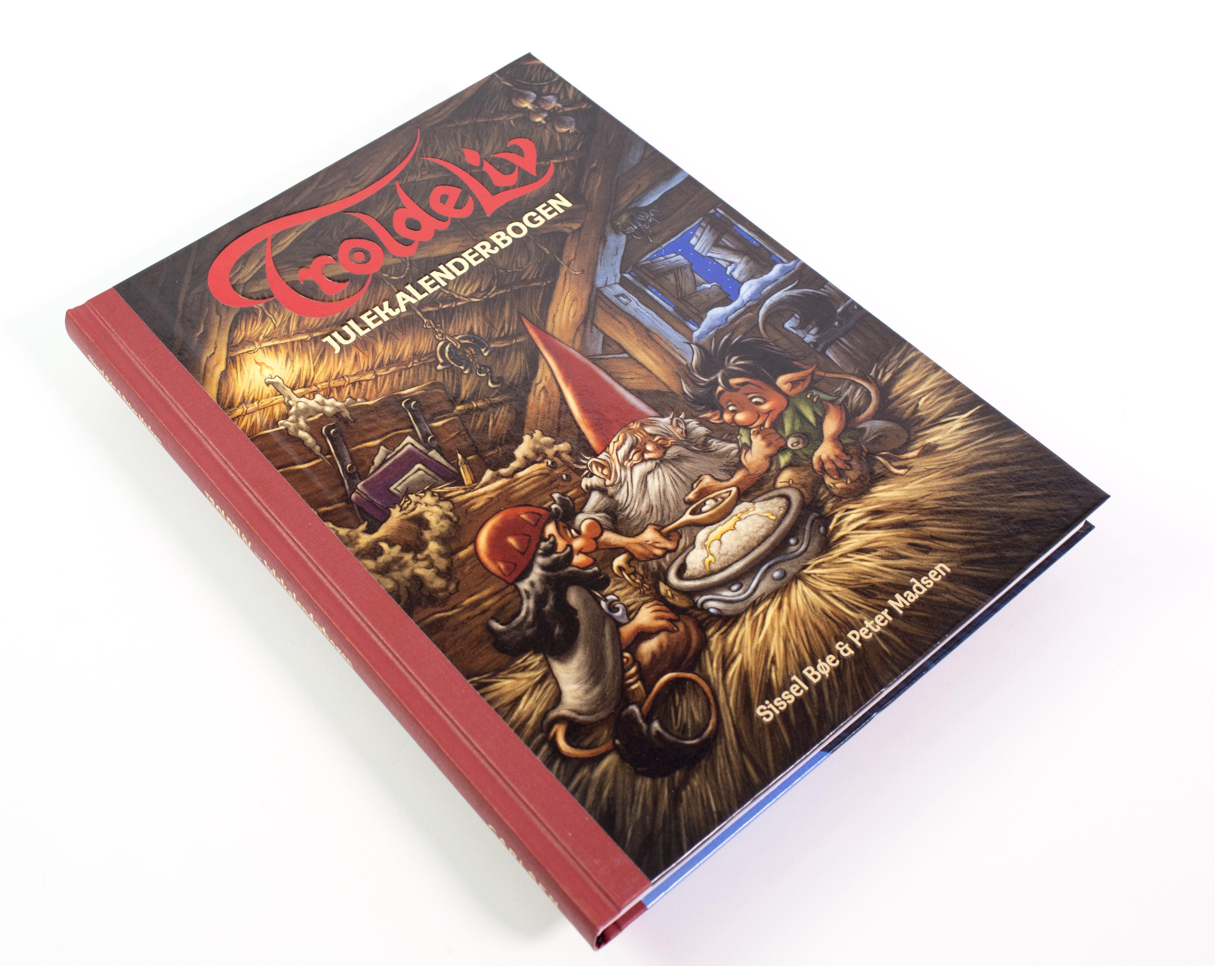 Jul, julekalender, julebog, kalenderbog, troldeliv, Troldeliv - Julekalenderbogen, Sissel Bøe og Peter Madsen,