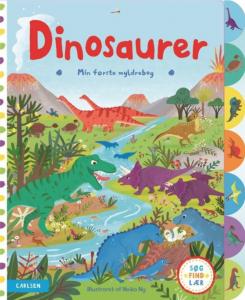 min første myldrebog, dinosaurer, carlsen, børnebog, søg, find, lær