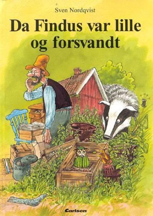Peddersen og Findus, Findus, Pedersen, Sven Nordqvist, Da Findus var lille og forsvandt, børnebøger, børnebog
