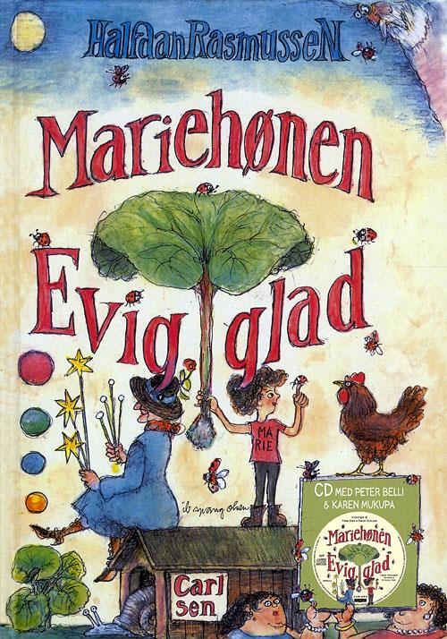 Halfdan Rasmussen, Mariehønen Evigglad, børnebog, børnebøger, rim og remser, remser til børn, børnerim, børneremser