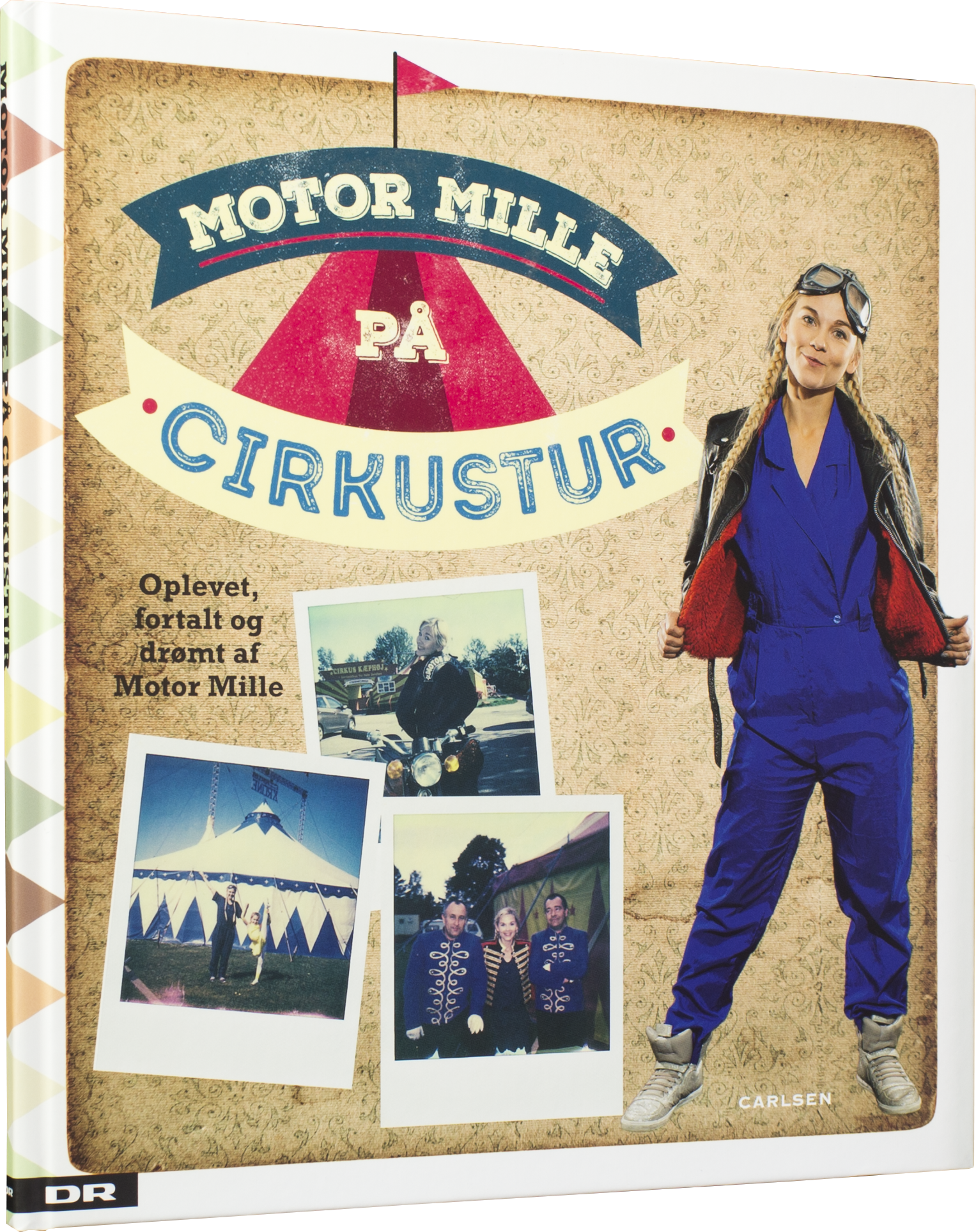 Motor Mille på cirkustur , motor mille, juelgaver, børnebøger, Mille Gori, cirkus, DR ramasjang