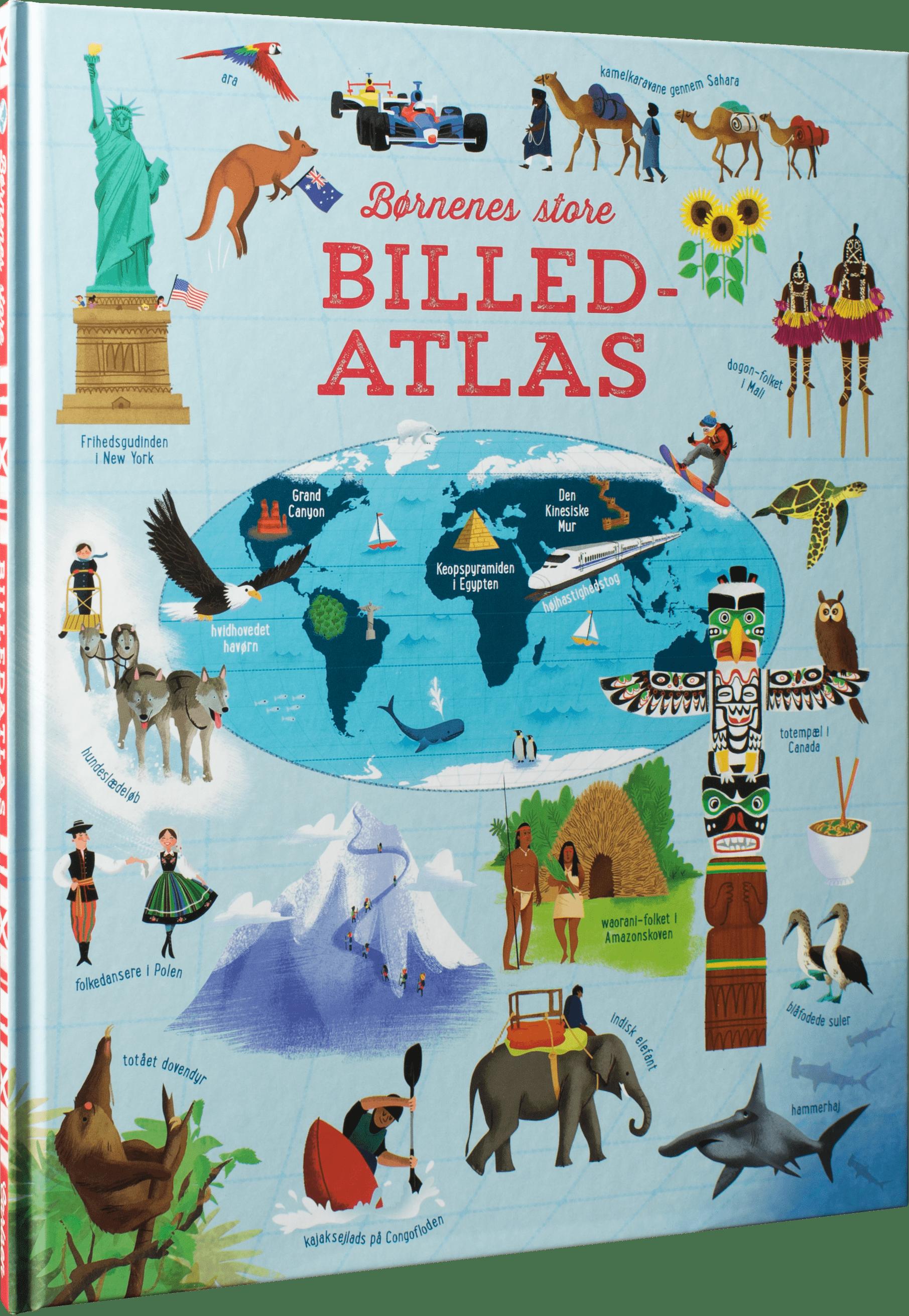 Børnenes store billedatlas, atlas, børnebøger, julegaver