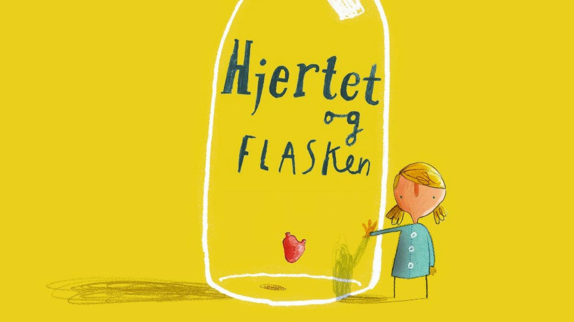 hjertet og flasken, børnebøger, billedbøger, billedbog, højtlæsning
