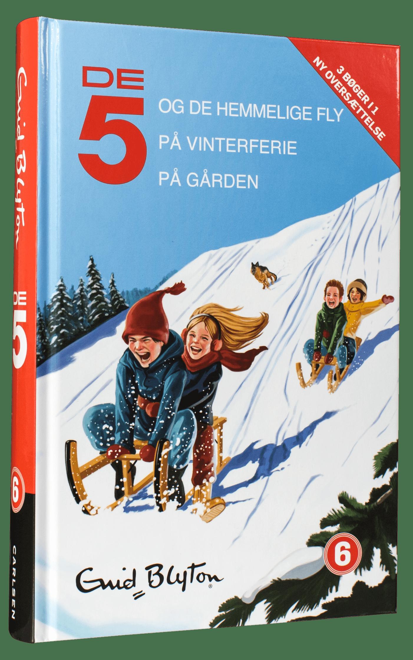 De 5, de 5 på vinterferie, børnebøger til vinterferien, ferielæsning, høtjlæsning