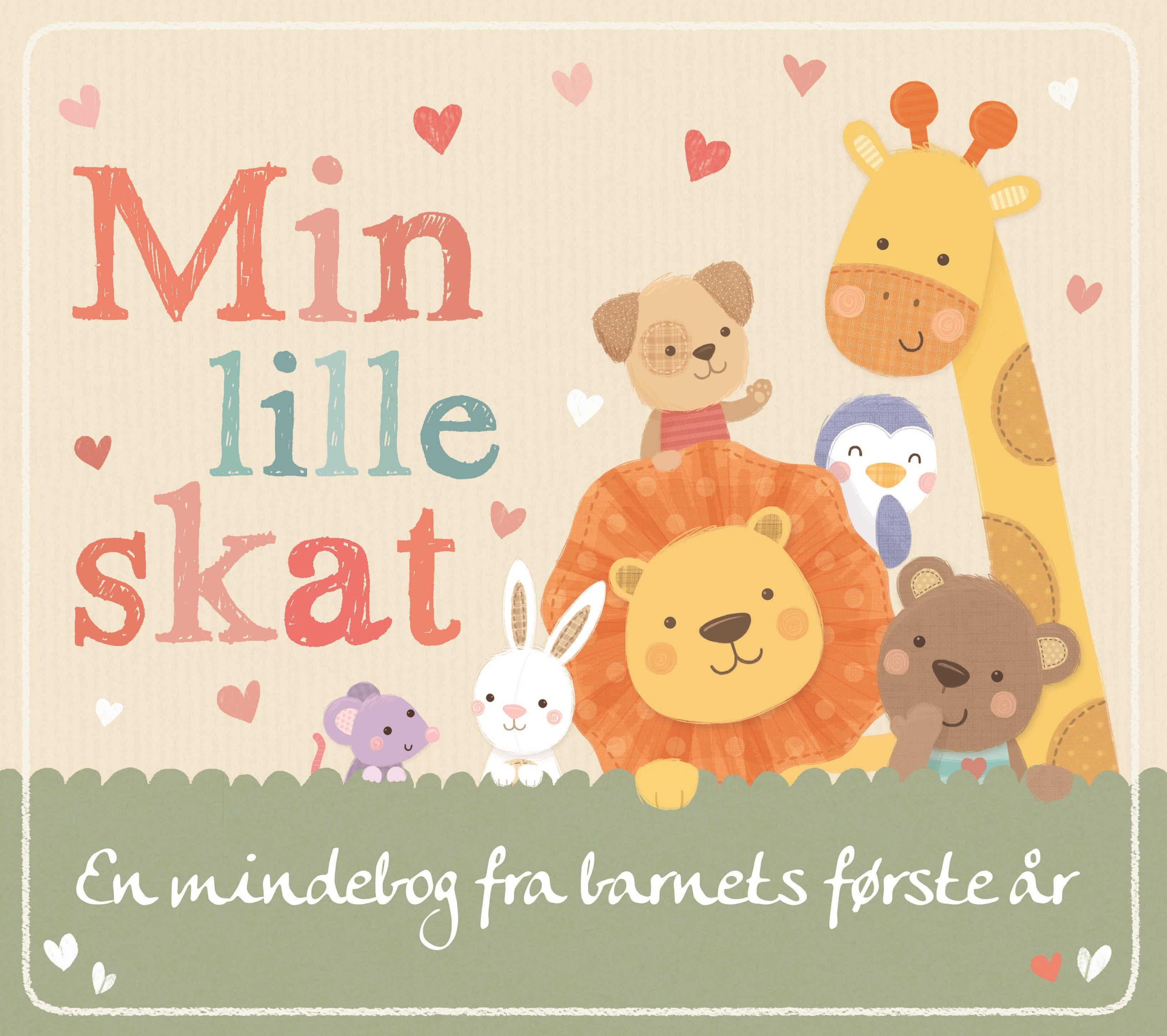Min lille skat, mindebog, mindebøger, barnets første år, barnets første bog, babys første bog