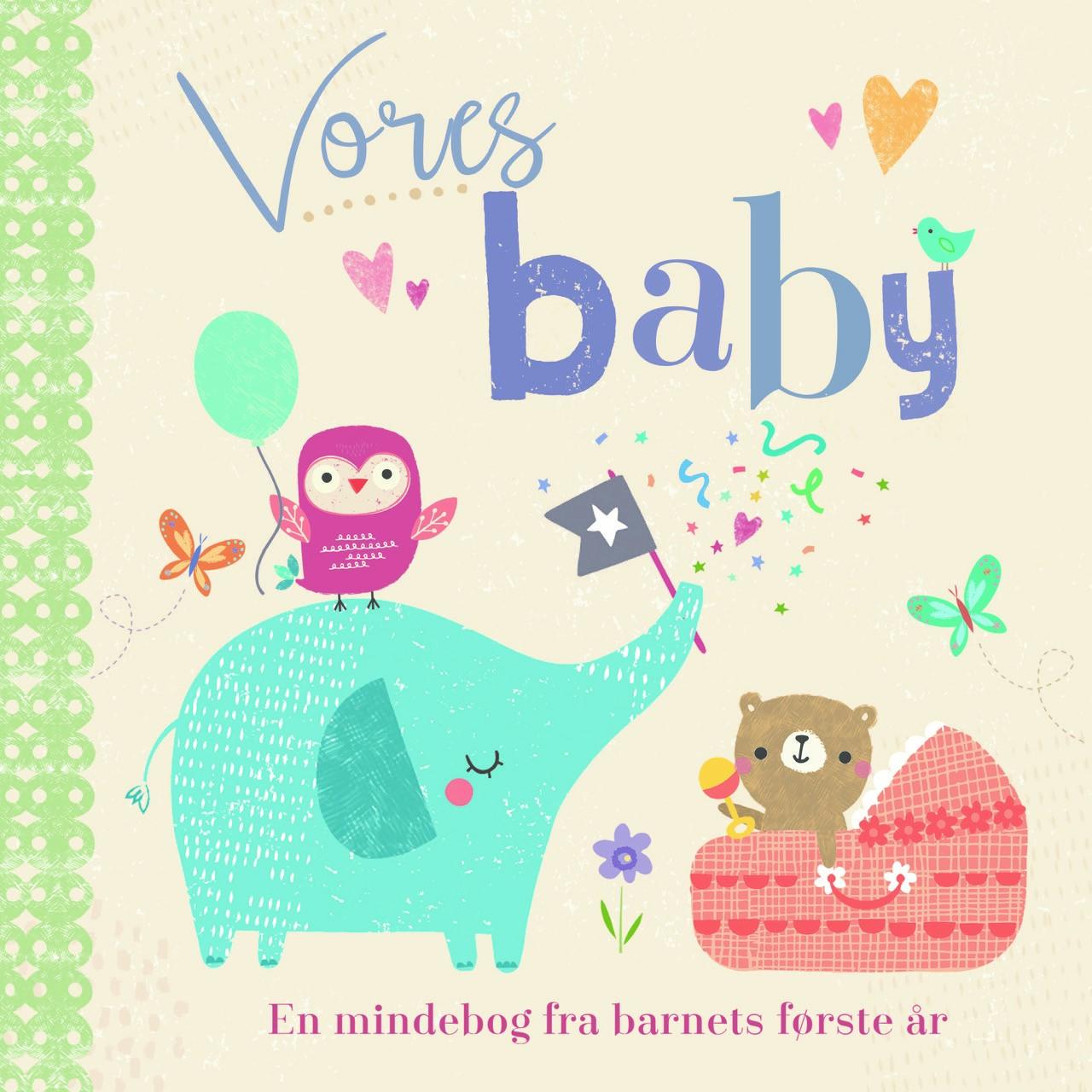 Vores baby, mindebog, mindebøger, barnets første år, barnets første bog, babys første bog
