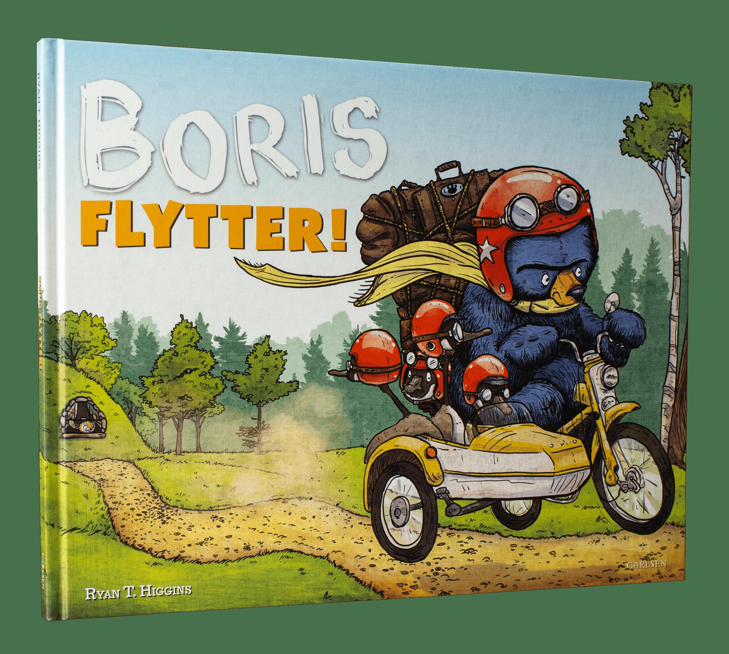 Boris flytter, boris, billedbøger, billedbog, højtlæsning, dialogisk læsning, ryan t. higgins
