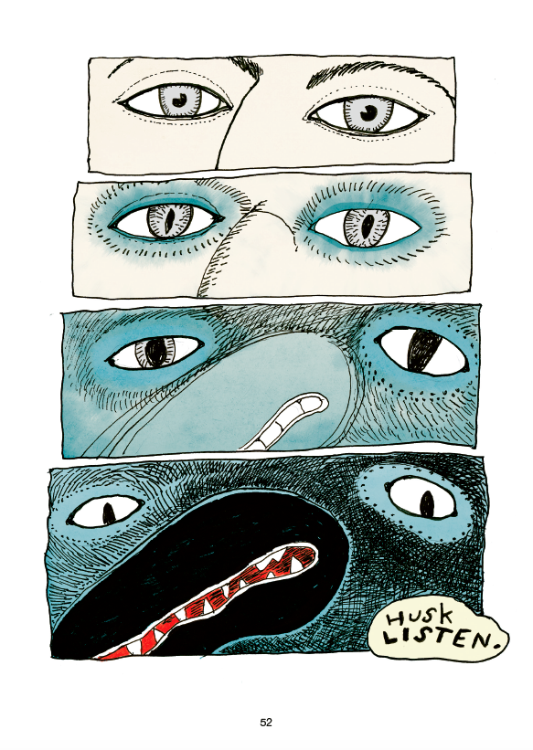 Fuglemanden, psykisk sygdom, sarah engell, lilian brøgger, grafisk roman, ungdomslitteratur, bedste danske tegneserie 2018