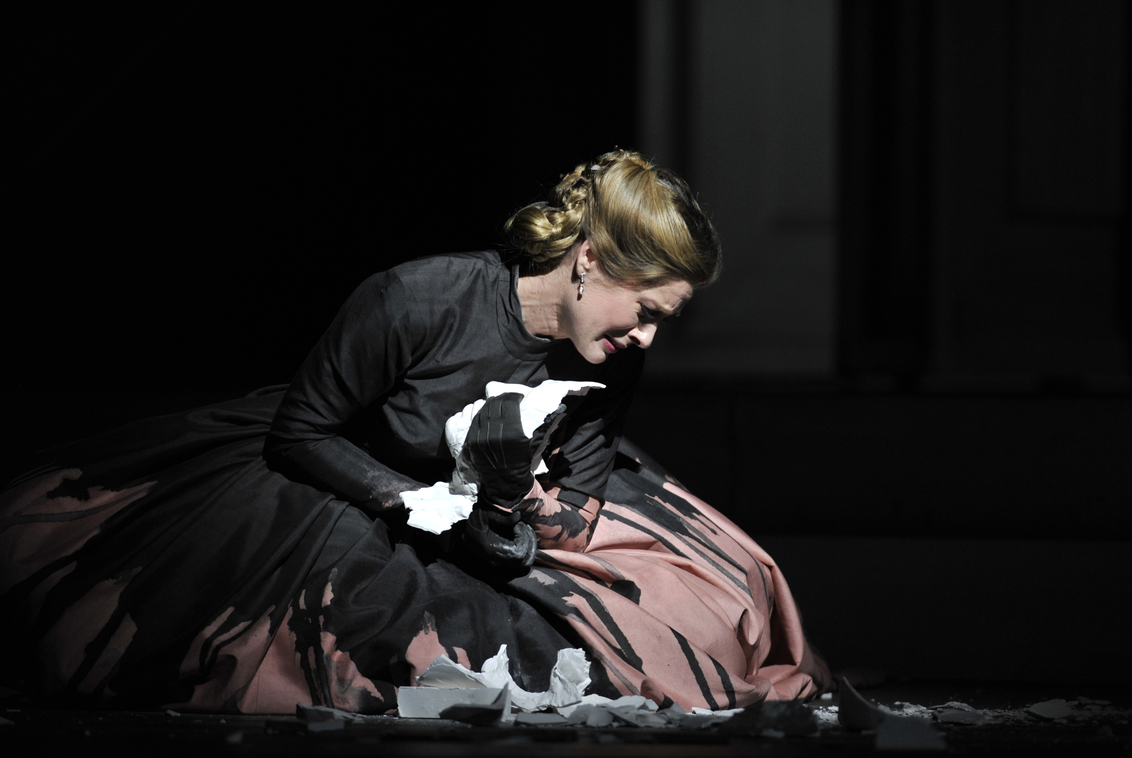 Malin Bystrom as Donna Anna in the Royal Operas production of Wolfgang Amadeus Mozart's Don Giovanni directed by Kasper Holten and conducted by Nicola Luisotti at the Royal Opera House Covent Garden in London. (Photo by robbie jack/Corbis via Getty Images)
