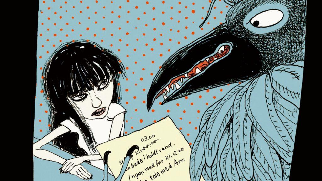 Fuglemanden, Sarah engell, lilian brøgger, psykisk sygdom, skitzofreni, young adult, graphic novelle, grafisk roman