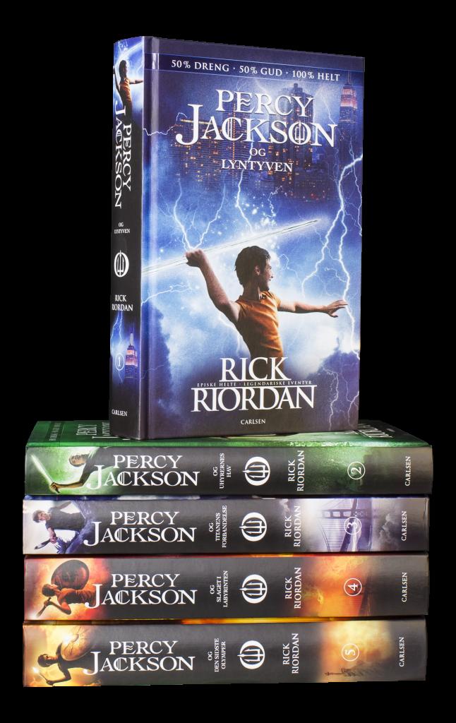 bogserier, bogserie, geniale bogserier, Percy Jackson, rick riordan, fantasy, fantasybøger,