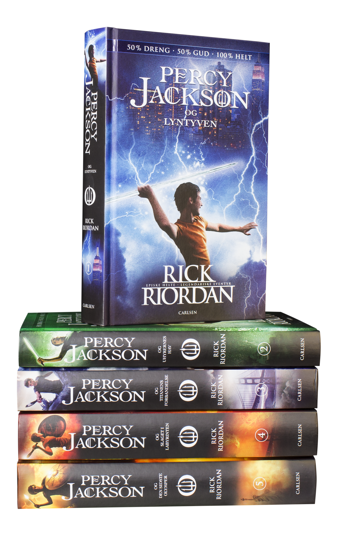 Percy Jackson, rick riordan, fantasy, fantasybøger,