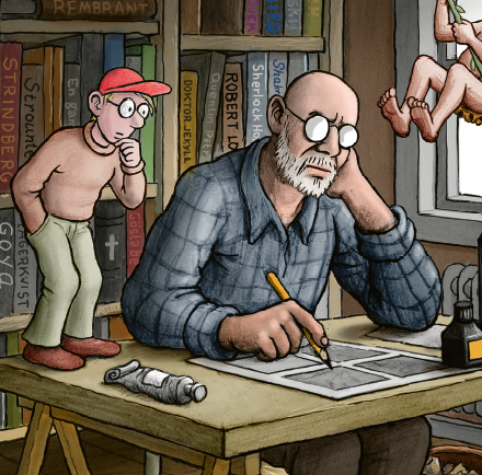 Jan Lööf, de bedste historier, historien om det røde æble, min morfar er sørøver