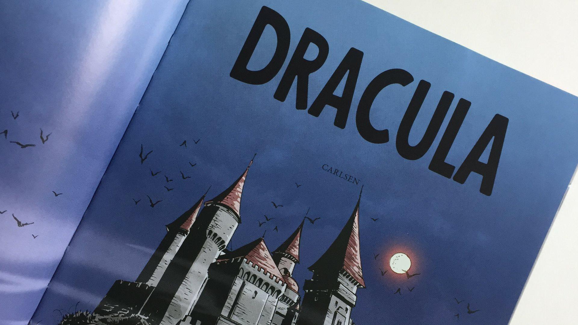 Carlsens tegnede klassikere, tegneserie, tegneserier, graphic novelle, dracula, robin hood, børnebøger