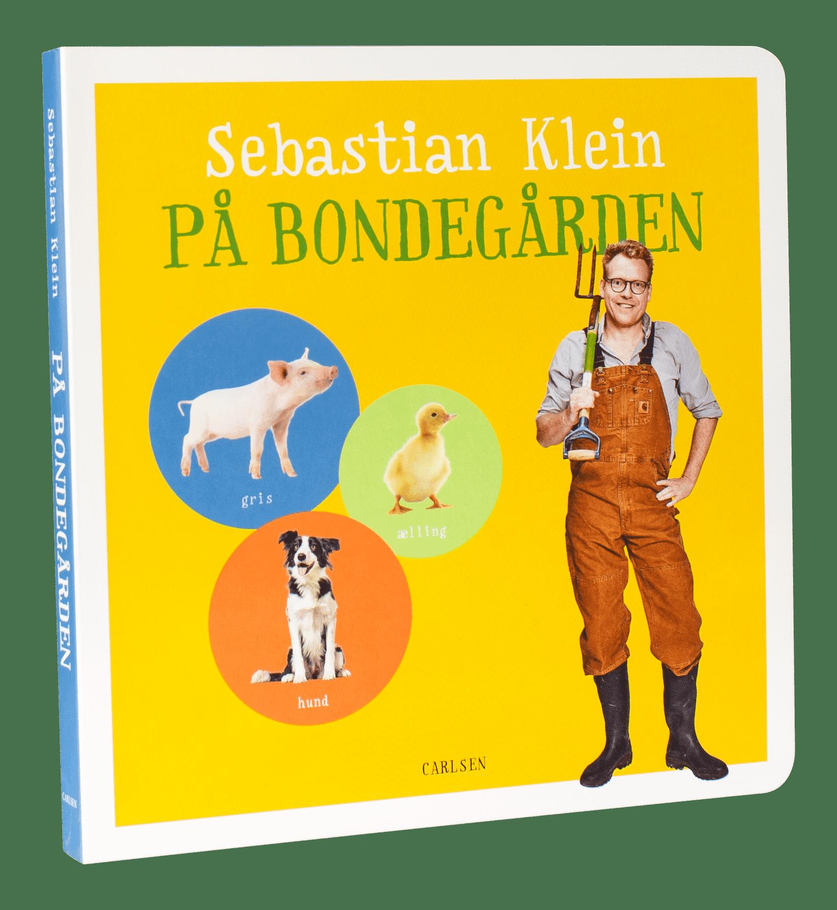 Sebastian Klein, Sebastian Klein på bondegården, dyrebog, børnebog, børnebøger, papbog, papbøger, bøger til de mindste