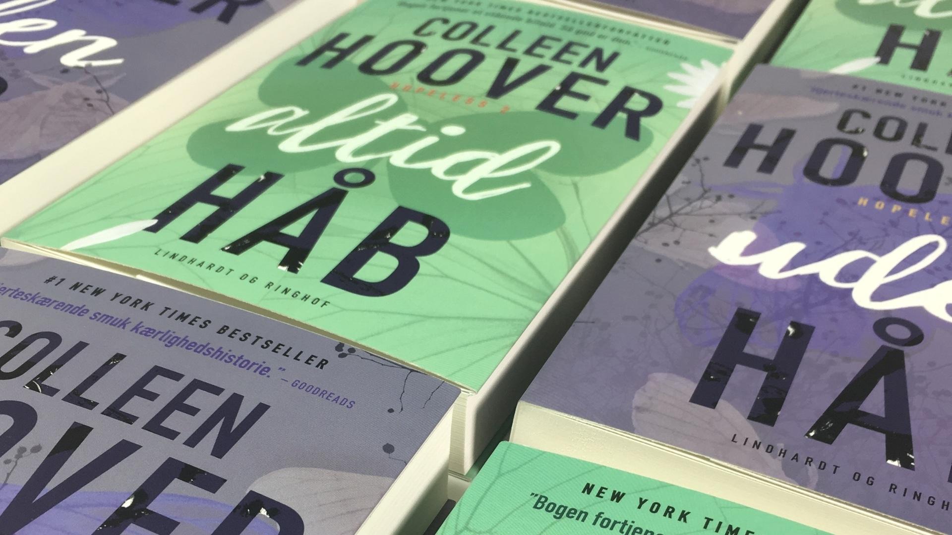 Colleen Hoover, Hopeless, Uden håb, Altid håb, romance, kærlighedsbøger, kærlighedsroman