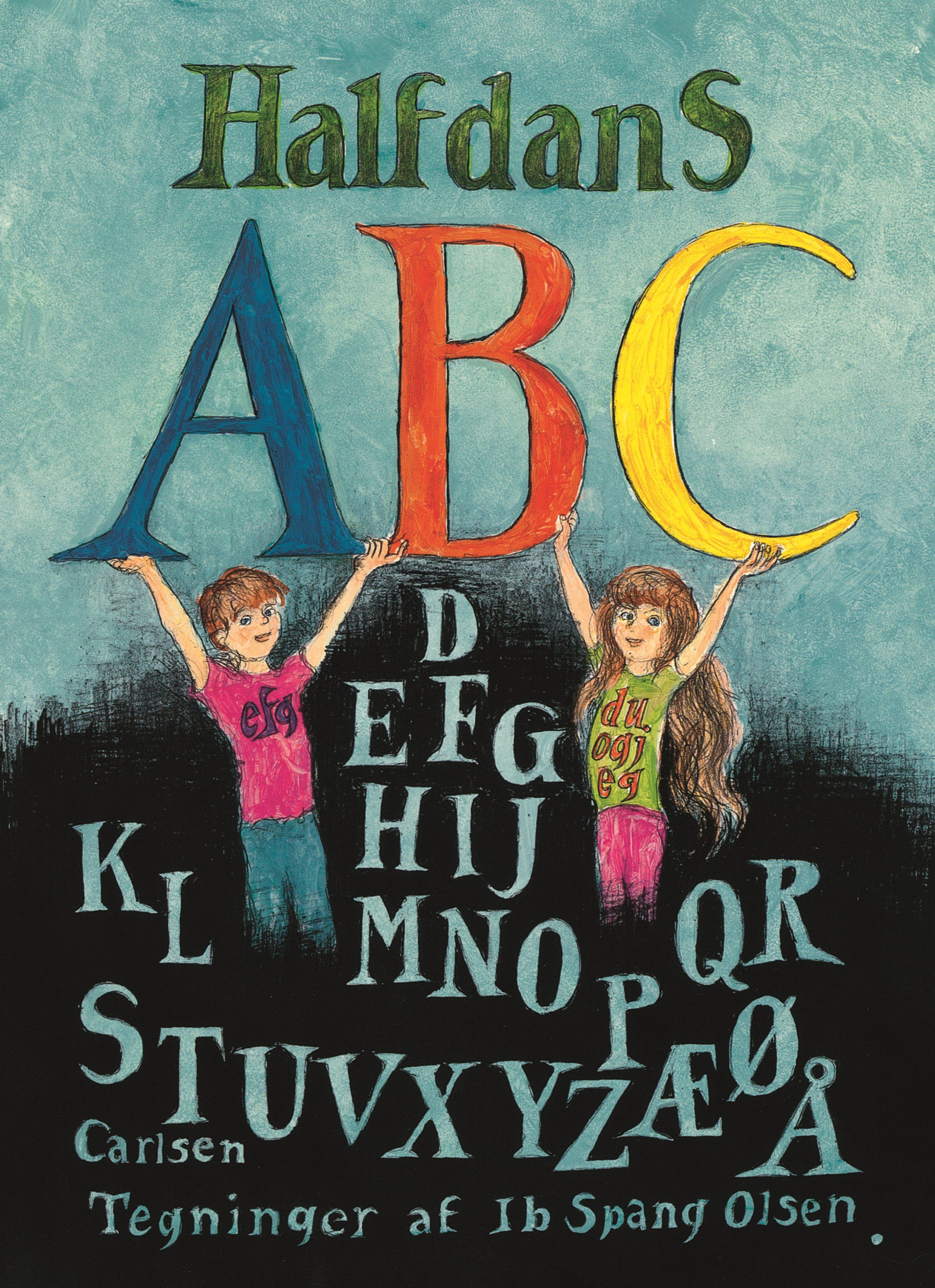 Halfdans ABC, Halfdan Rasmussen, rim og remser, papbog, børnebog, abc