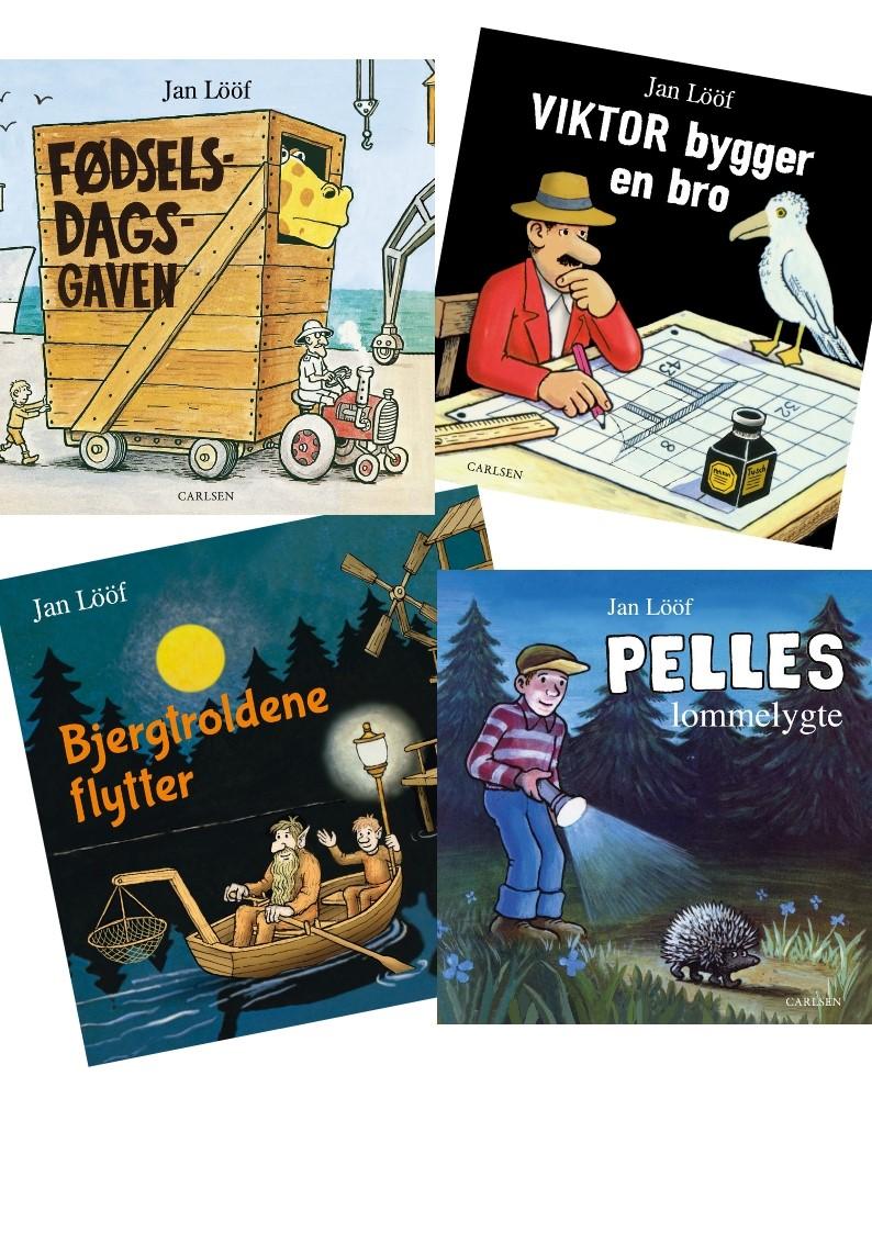 Jan Lööf, Viktor bygger bro, Pelles lommelygte, Bjergtroldene flytter, fødselsdagsgaven, børnebog, børnebøger,