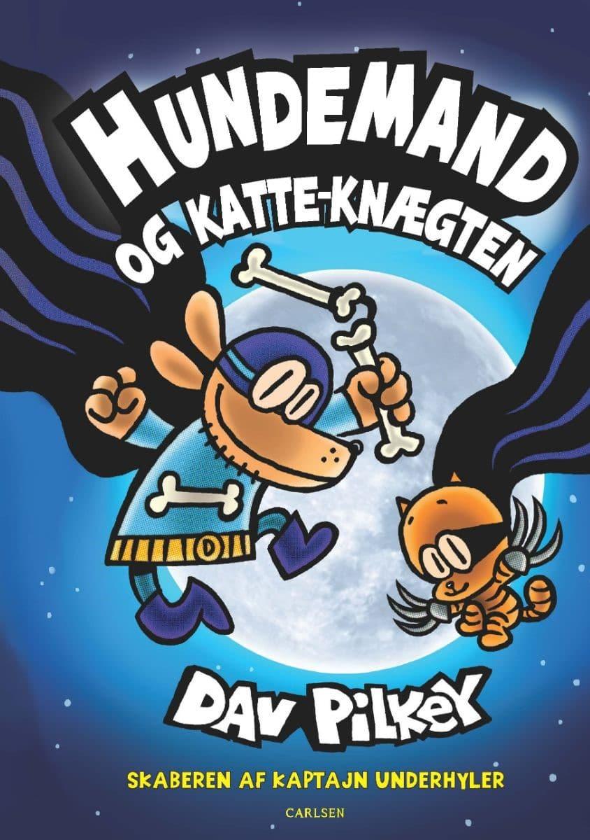Hundemand, Hundemand 4, Humand og katte-knægten, Dav Pilkey, børnebog, børnebøger