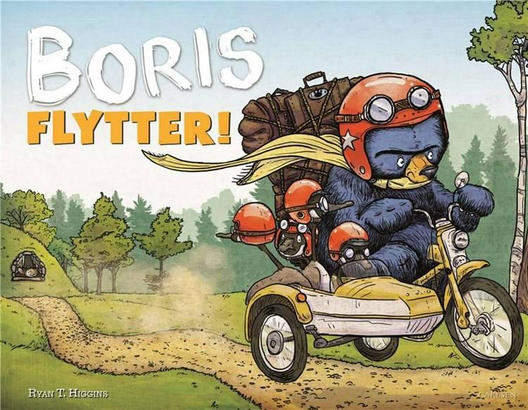 Boris flytter, bjørnen boris, Ryan T. Higgins, billedbog, børnebog