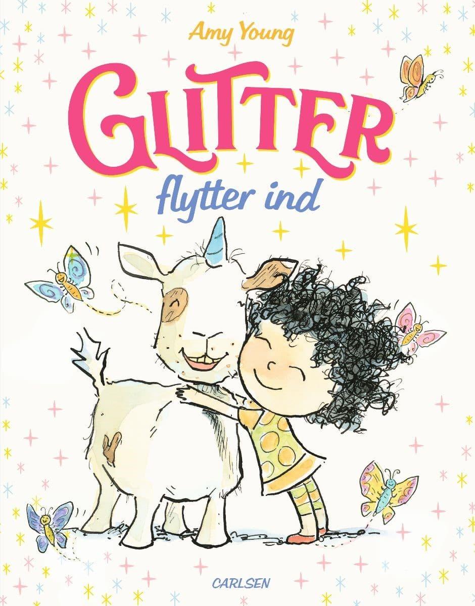 Glitter flytter ind, Amy young, billedbog, billedbøger