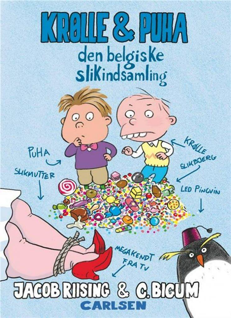 Krølle & Puha, Jacob Riising, Claus Bigum, børnebog, børnebøger, sjob børnebog, humor til børn