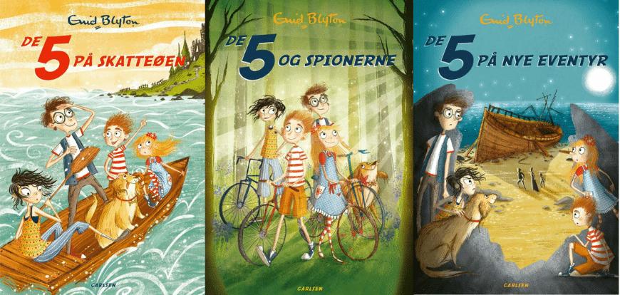 De 5, Enid Blyton, børnebog, børnebøger, spænding til børn, børnebogsklassiker